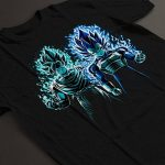 Cloud City 7 Dragon Ball Z Vegeta Goku Blue Flames Men's T-Shirt de la marque Cloud City 7 image 3 produit