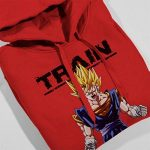 Cloud City 7 Train Insaiyan Super Saiyan Dragon Ball Z Kid's Hooded Sweatshirt de la marque Cloud City 7 image 3 produit